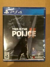 This Is the Police II 2 (Sony PlayStation 4,2018) NEW SEALED THQ NORDIC FAST PS4