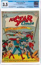 All Star Comics 36 CGC 3.5 Superman Batman 1947 golden Age Iconic Cover Cheap