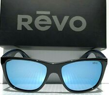 7e3b5b605a NEW! REVO OTIS BLACK polished w POLARIZED Blue Water Lens Sunglass 1001 01  BL