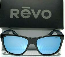 NEW! REVO OTIS BLACK polished w POLARIZED Blue Water Lens Sunglass 1001 01 BL