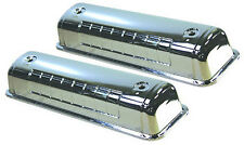 "Ford Chrome Steel 292 -312 "" Y "" Block Valve Covers Fits 1954 - 1964 Motors V8"