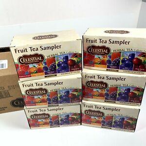 Celestial Seasonings Herbal Tea Bags, Fruit Tea Sampler 18 ea (Pack of 6) Lot