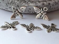 10 BEE CHARM SILVER TONE 17.5mm Jewellery Making-Crafts-Scrapbooking