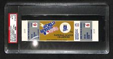 1985 WORLD SERIES GAME 6 FULL TICKET ROYALS 9TH INNING WALK OFF WINNER WIN PSA 8