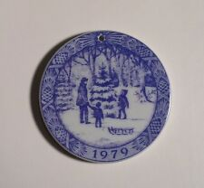 1979 Royal Copenhagen Porcelain O' Christmas Tree Ornament Blue & White
