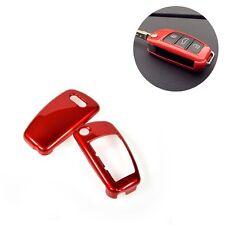 COVER CHIAVE GUSCIO AUDI rossa 3 TASTI SCOCCA RIGIDA A1 A3 A4 A6 Q7 Q5 TT