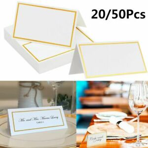 Decor Blank Place Cards Seating Card Wedding Letter Invitation Message Greeting