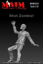1/35 Scale Resin kit Shot Zombie  headshot  - Zombie wars model set