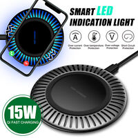 For Samsung S21 Plus,Note 10+/9/8 15W Wireless QI Fast Charger Charging Pad Dock