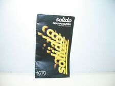 Solido, Catalogue Novelty 1979, Miniature, Circus, Truck, Military