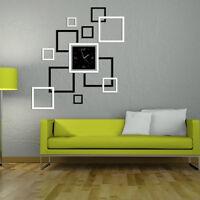 Eg _ Hk- Moderno Fai da Te 3D Orologio Parete Specchio Superficie Adesivo Casa