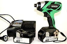 HITACHI IMPACT DRIVER WH 18DSAL &  CASE(new) 2x 4Ah BATTERIES 240V CHARGER (sec