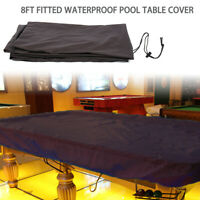 8ft Fitted Pool Snooker Billiard Table Waterproof Dust Cover With Drawing String