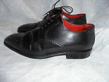 FINSBURY ambassadeur Hommes Cuir Noir À Lacets Chaussures Chaussures Taille UK 8 EU 42 très bon état