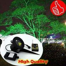 Outdoor Red and Green Laser Landscape Light Garden Holiday Projector Christmas