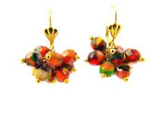 Ohrringe Traube Ohhänger Vergoldetem mit Kristalle aus verschiedenen farben