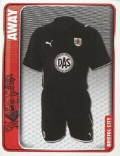 035 AWAY KIT ENGLAND BRISTOL CITY.FC STICKER FL CHAMPIONSHIP 2010 PANINI