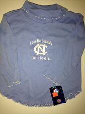 NC Tar Heels Children's Shirt White Blue Love Me, Love My Tar Heels Size 3 Girls