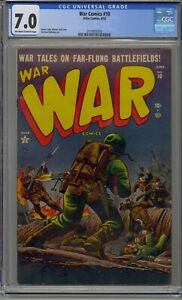 WAR COMICS #10 CGC 7.0 ATLAS COMICS PRE HERO WAR HIGHEST GRADED RARE!!