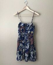 Forever 21 Colorful Floral Dress Tank Button Front Women's Size Small