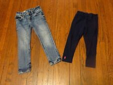 Girls' Lot of 2 Polo Ralph Lauren Navy Blue Leggins Skinny Jeans sz 3 3T