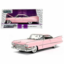 JADA  BIGTIME KUSTOMS 1959 CADILLAC COUPE DEVILLE PINK 1/24 DIECAST 96801-WA1