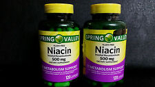 Spring Valley Flush Free Niacin Dietary Supplement, 500 mg, 240 Capsules