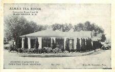 Alma's Tea Room 1950s Manchester New Hampshire postcard 9990