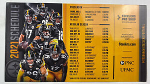"""OFFICIAL 2021 Pittsburgh Steelers Schedule Magnet 9""""x5"""", NFL"""
