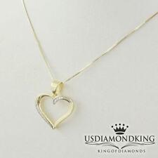 Sólido Auténtico 10 Quilates Oro Amarillo Diamante Original Mujer