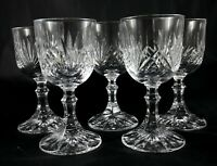 5 stunning lead crystal vintage port liqueur spirit glasses wide base