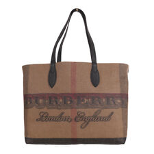 Burberry MD DOODLE Coated Canvas Nova Check Tote 100 Guaranteed Authentic