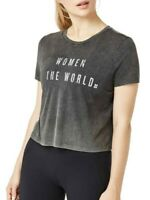 Sweaty Betty Graphic Crop Top NWT Gray T-Shirt XL Support Women Slogan Print