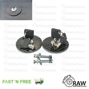 Carbon Fibre Style Lockable Aero Quick Release Bonnet Catches Latches Hood Pins