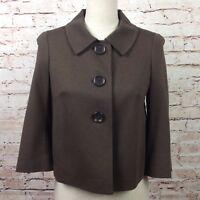Talbots Size 2 Petites Stretch Cropped Women's Dress Coat Jacket Suit Blazer