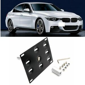 Tow Hook License Plate Bumper Mount Bracket for BMW F10 F11 F25 F26 3 4 5 Series