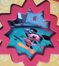 Completo lenzuola Disney Topolino Mickey Singolo 100% Cotone A310