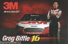 "2013 GREG BIFFLE ""3M #16"" NASCAR SPRINT CUP POSTCARD"