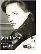 PUBLICITE  1980  JEAN D'AVEZE   cosmétiques JOUVENCE
