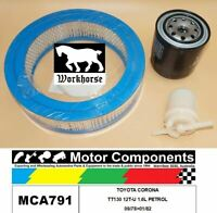 FILTER SERVICE KIT for TOYOTA CORONA TT130 12T-U 1.6L PETROL 09/78>01/82