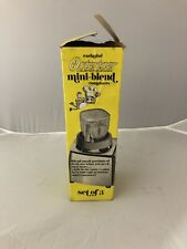 Vintage Osterizer Blender Mini Blend Containers 3 Pack In Box . New Old Stock