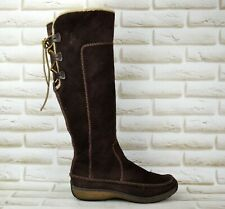 TIMBERLAND Womens Brown Suede Knee High Long Boots Shoes Size 5.5 UK 38.5 EU