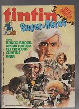 Super Tintin n°9. Super-Héros. Lombard 1982. Bruno Brazil, Cubitus, Aria...