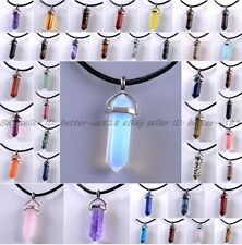 Natural Quartz Crystal Stone Point Chakra Healing Gemstone Pendants Necklace