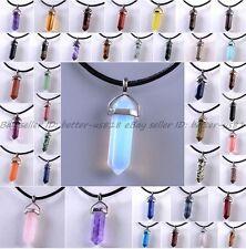 Natural Quartz Crystal Stone Point Chakra Healing Gemstone Pendants Necklaces