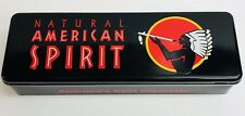 Natural American Spirit Cigarette Tobacco Collectible Black Metal Tin Box