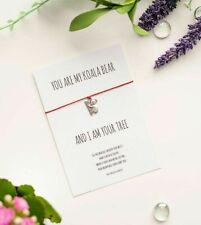 Koala Bear Wish String Bracelet with Tibetan silver Charm Friendship bracelet