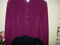 2 PIECE LONG DRESS & JACKET--BURGANDY & BLACK--SIZE L---#Y61--B50