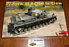 WWII german Panzer Tank Pz.Kpfw.III Ausf.B w/Crew  1:35 MiniArt 35221 Neu