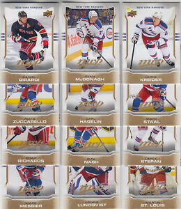 14/15 UD MVP New York Rangers Team Set with SPs - Lundqvist Messier +